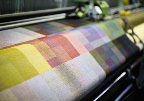 Knudson's designs, such as the reversible  color-block pattern, are the foundation of the mill's products.