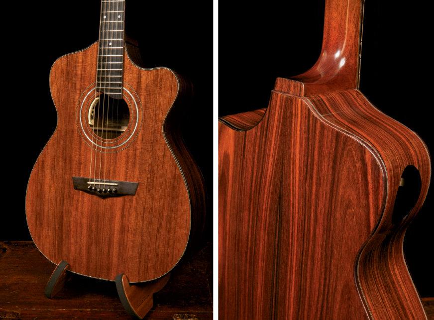 Alchemist Guitar, custom-made with pau ferro, aka Brazilian ironwood By Jay Lichty, Tryon
