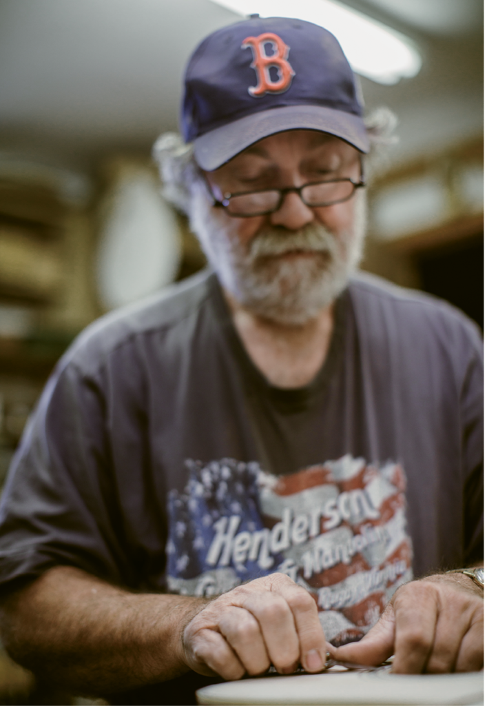 """""""You listen  to the wood and shape it the way it needs to be shaped. It needs to be light enough, but strong enough that the whole thing doesn't fall apart.""""  —Wayne Henderson on guitar-making"""