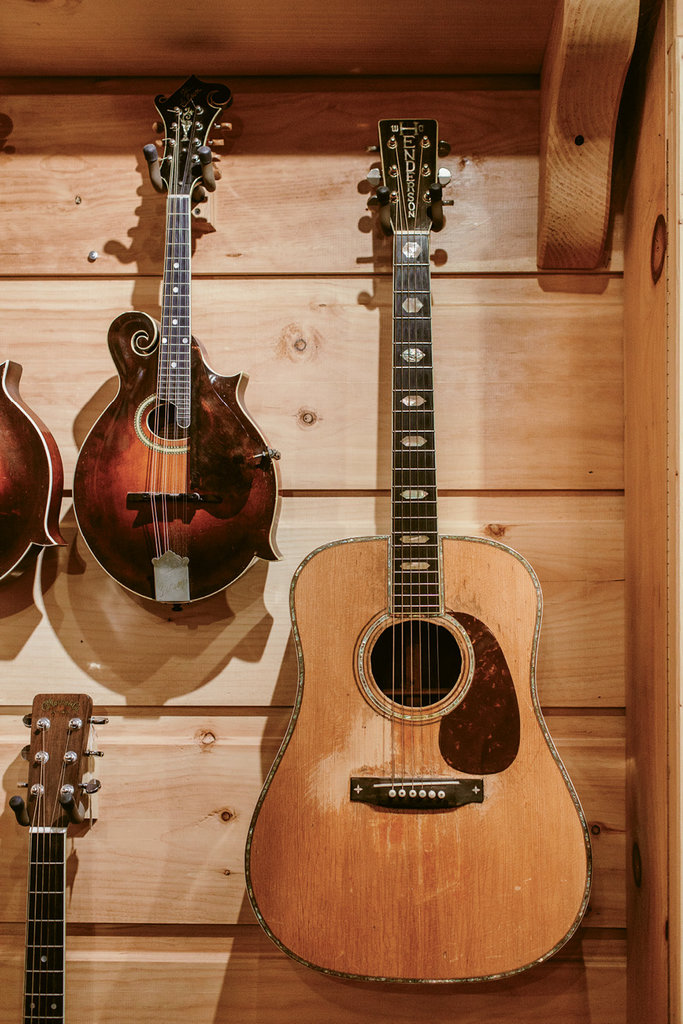 The seventh guitar he made, which was the first he sold. It earned him $500 in the late 1950s; today, his guitars sell for tens of thousands of dollars.
