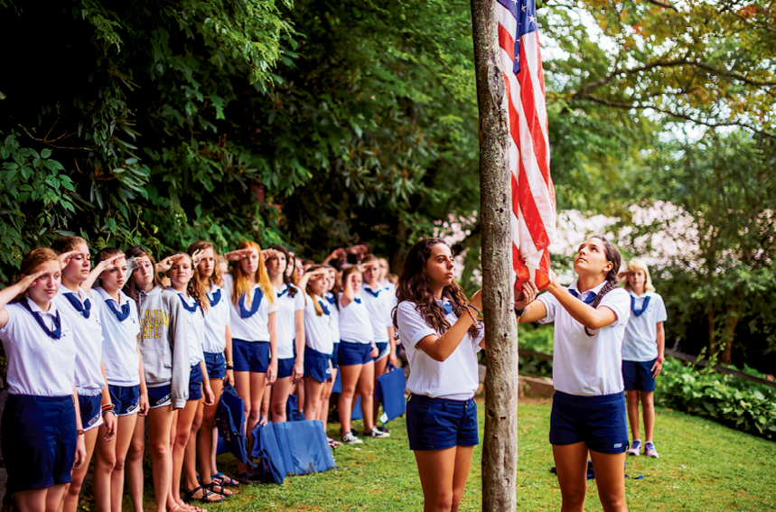 Some traditions, like the daily raising and lowering of the flag, never change at Keystone. Another tradition that remains is the evening ritual of having milk and cookies before singing Taps to close the day.