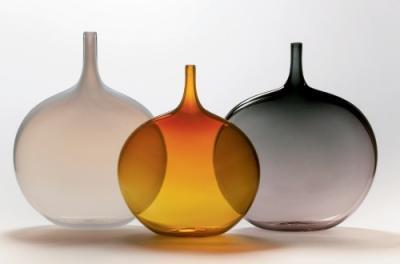 "Lecca lecca (""lollipop"") vases, blown glass By john geci, bakersville"