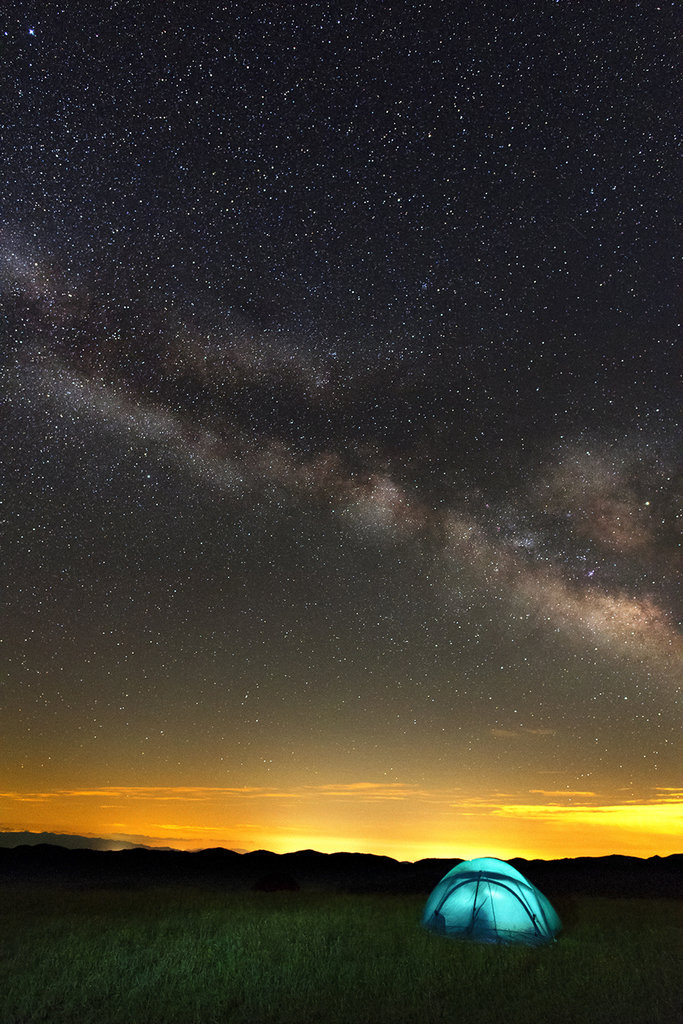 Honorable Mention: Milky Way Over Max Patch by James K. York (Amateur category)