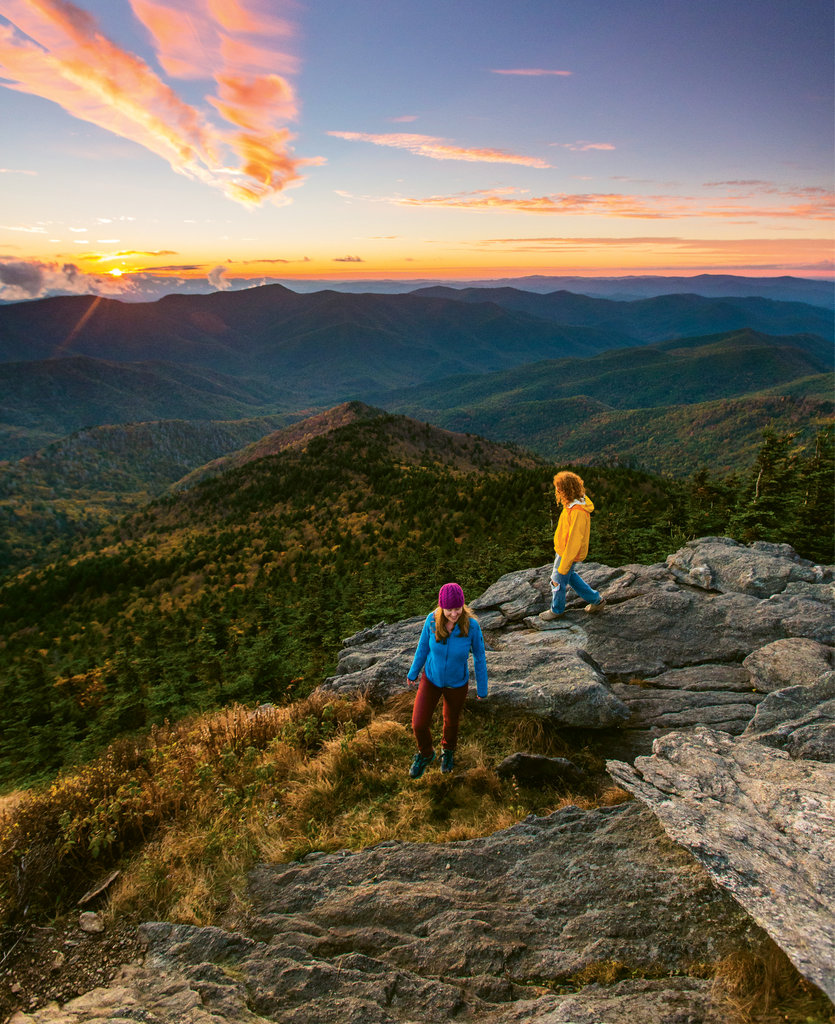 Mount Craig hike at Mount Mitchell State Park