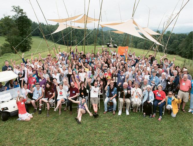 Penland's auction volunteers