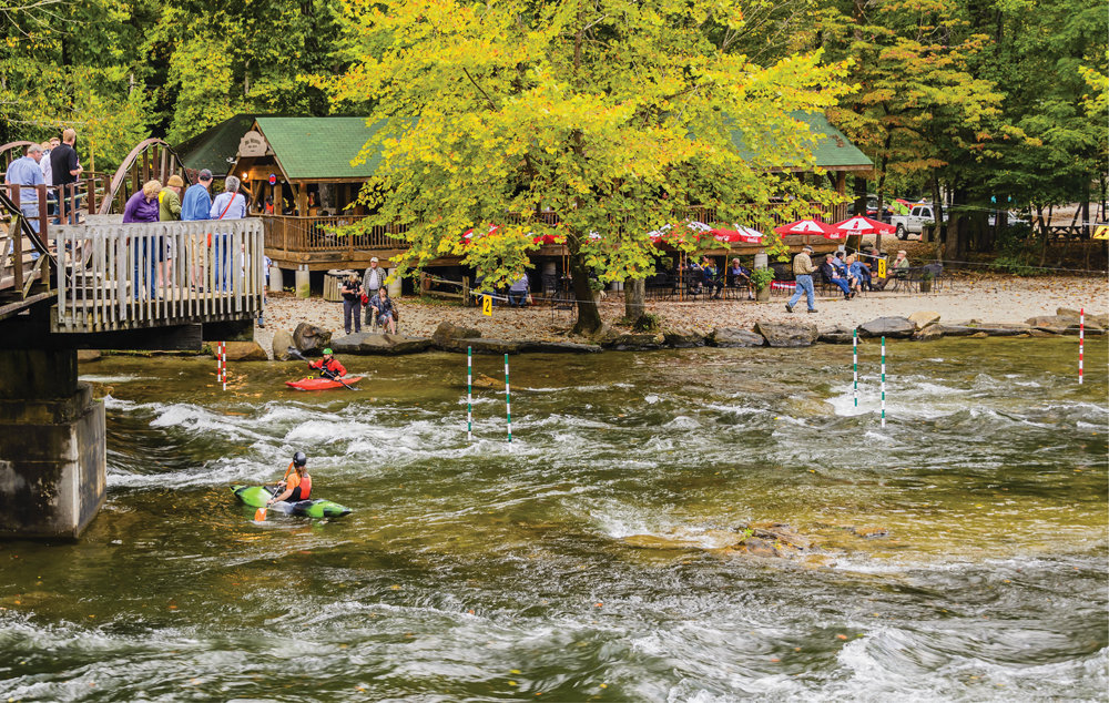 "Core Adventure: The NOC's Nantahala Outpost is a hub for paddlers and spectators alike. See <a href=""http://www.noc.com"">www.noc.com</a>."