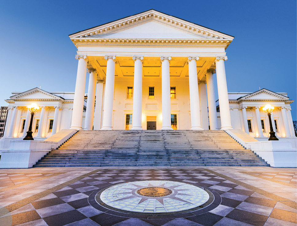 Grand Design: Architects Charles-Louis Clérisseau and Thomas Jefferson modeled the Virginia State Capitol after the Maison Carrée, a Roman temple in Nîmes, France.