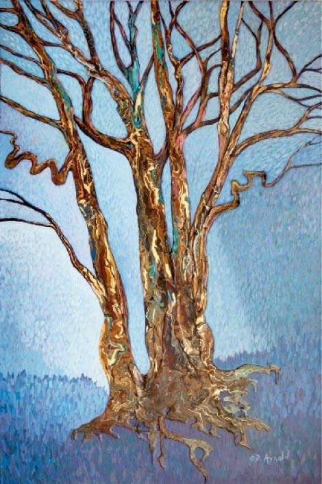 "Debbie Arnold, Boone, Winter Trees, 36"" x 24"""