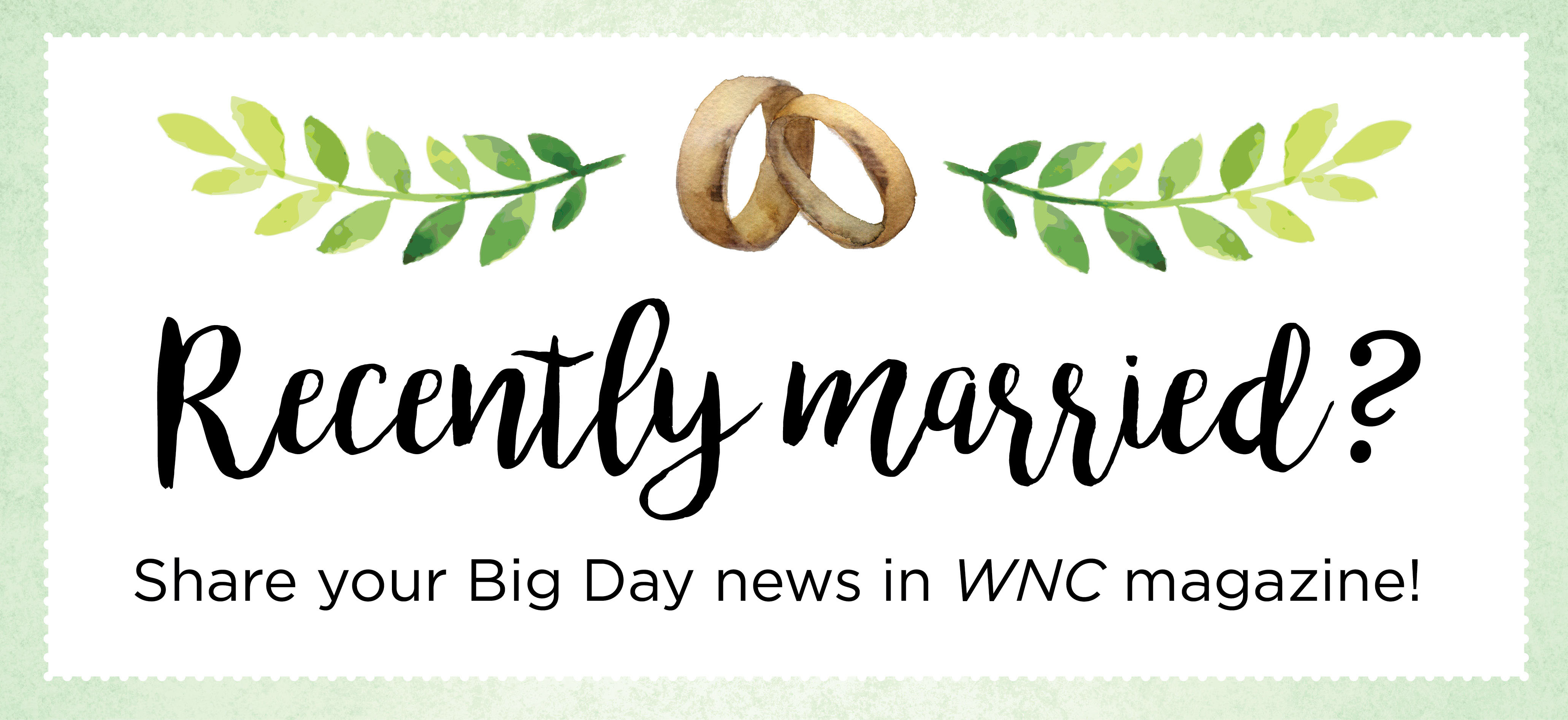submit your wedding announcement wnc magazine