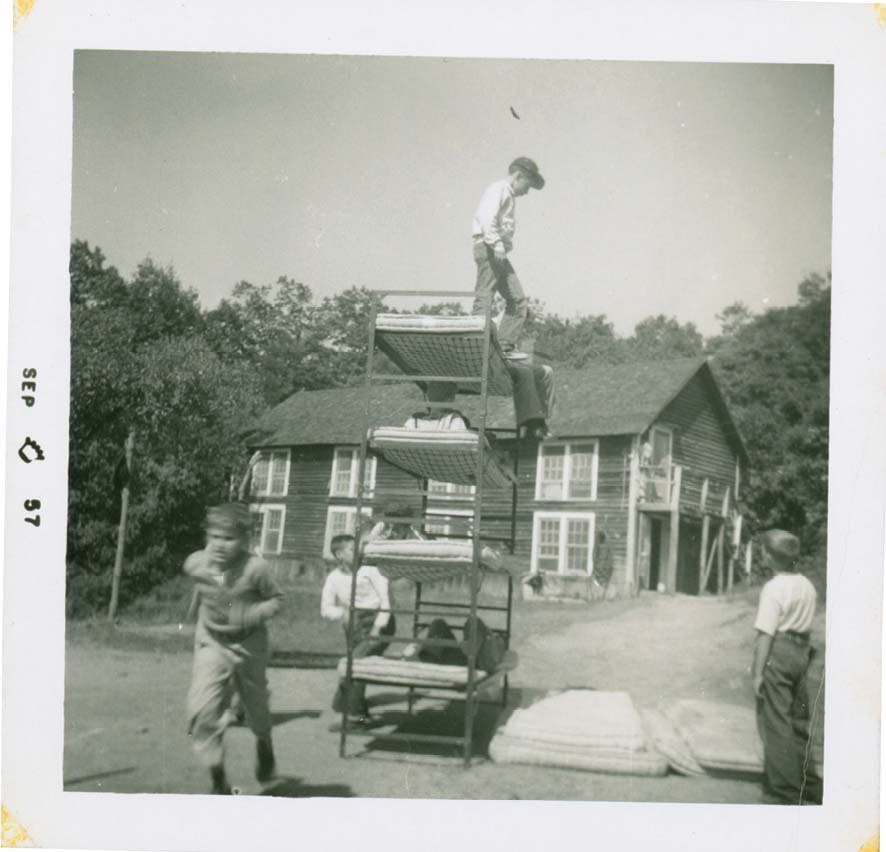The boys at Camp Catawba were hardly a genteel set. They were no strangers to playing hard and rowdy despite their training in drama, music, and art. In conversations with camp historian Charles Miller, some marveled that their daredevil antics didn't leave them with serious injuries.