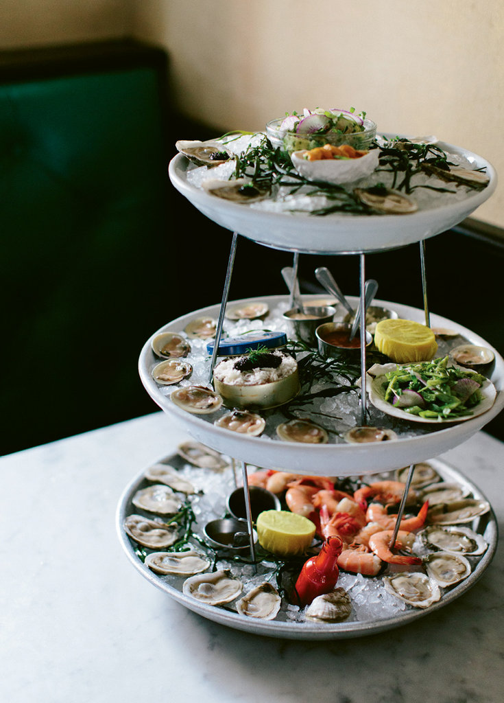 The seafood tower at the Ordinary