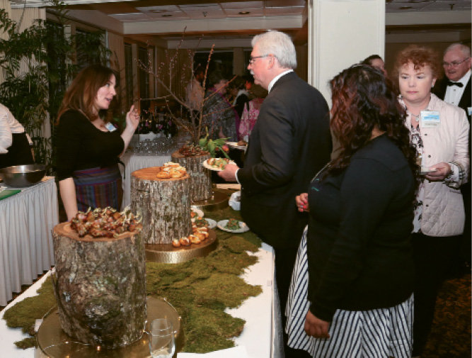 Budy Finch Catering and Revelry owner  Amelia Lindsey showcase their culinary art.