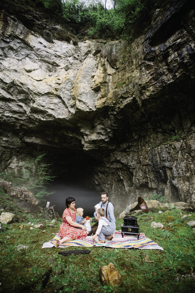 Mineral Rights  {1920s} mining families would socialize and picnic at the caves during their time off.