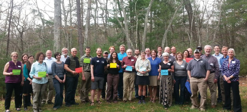 A gathering of members of the Nantahala-Pisgah Forest Partnership, which has helped craft the planning process.