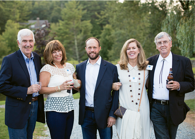 Bill and Susan Leonard, Tim Snead, Cindy Milner, and Bill Hall