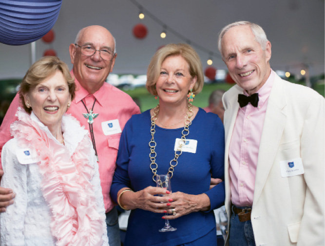 Linde and William Mullis with Barbara and Clark Woolley