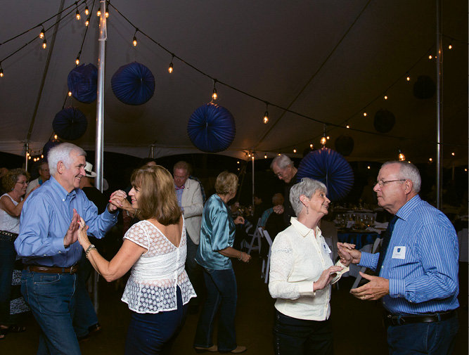 Attendees danced the night away to tunes by The Lucky Strikes Orchestra