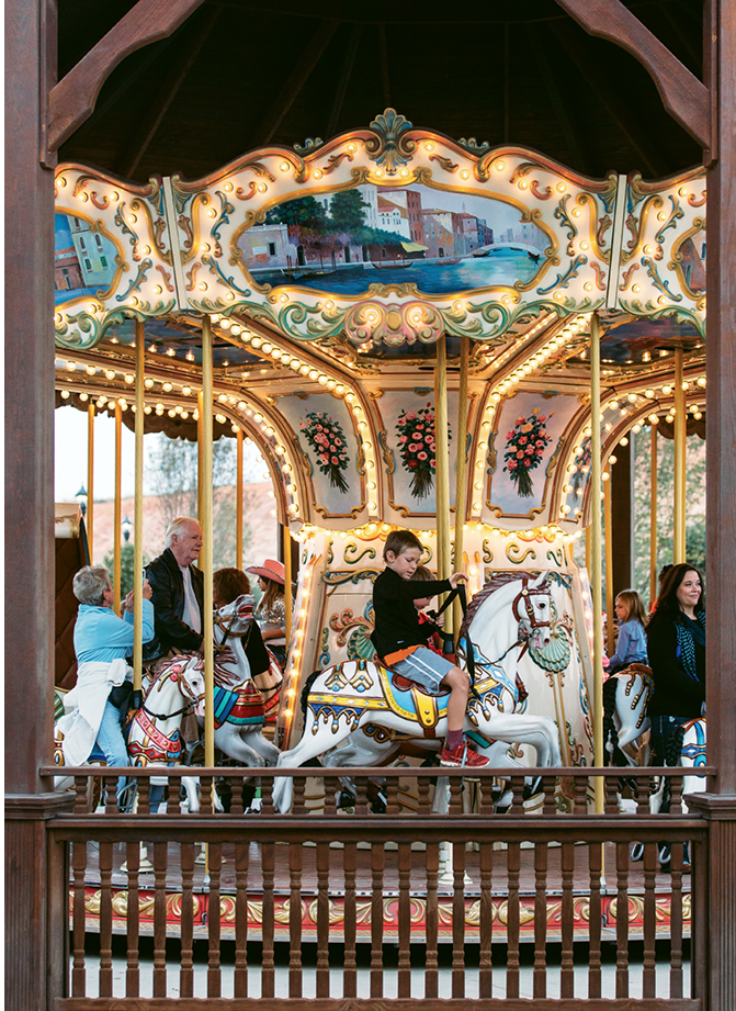 And while most of the events are horse-centric, the center hosts other amusements, such as the Venetian carousel, musical concerts, craft beer festivals, shag-dance competitions, and classic car shows.