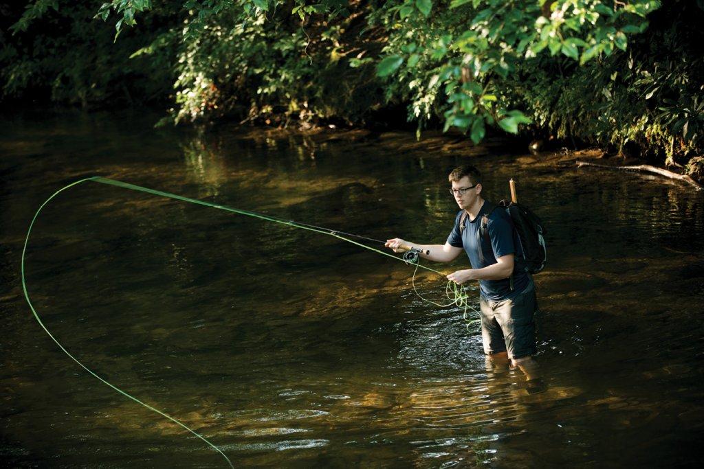 Fishing near Pisgah's Davidson River Campground