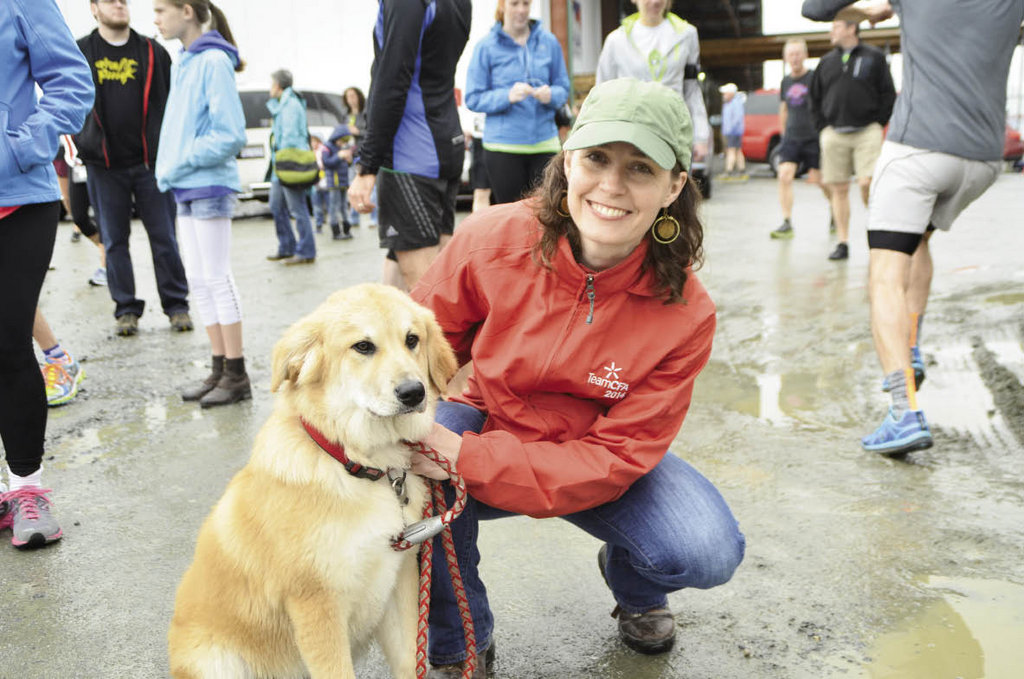 Julie Lefler with her canine companion.