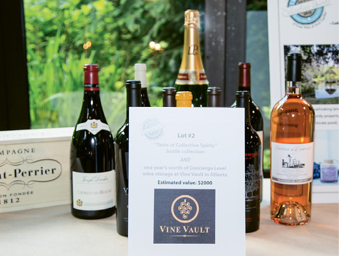 The auction included one-of-a-kind large format wines, plus trips and dinners with notable chefs.