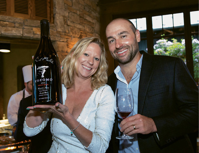 Epiphany Wine Company's Gwen Collins and winemaker Erik Miller of Kokomo Winery