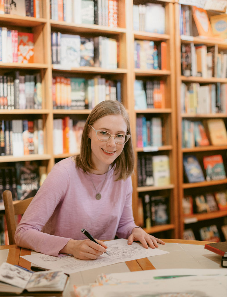 Page turner: At just 28 years of age, Kath has already illustrated 12 books, including a reboot of a Dr. Seuss title.