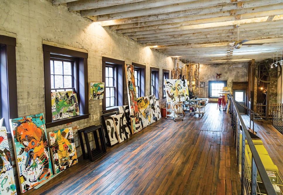 A River Arts District studio