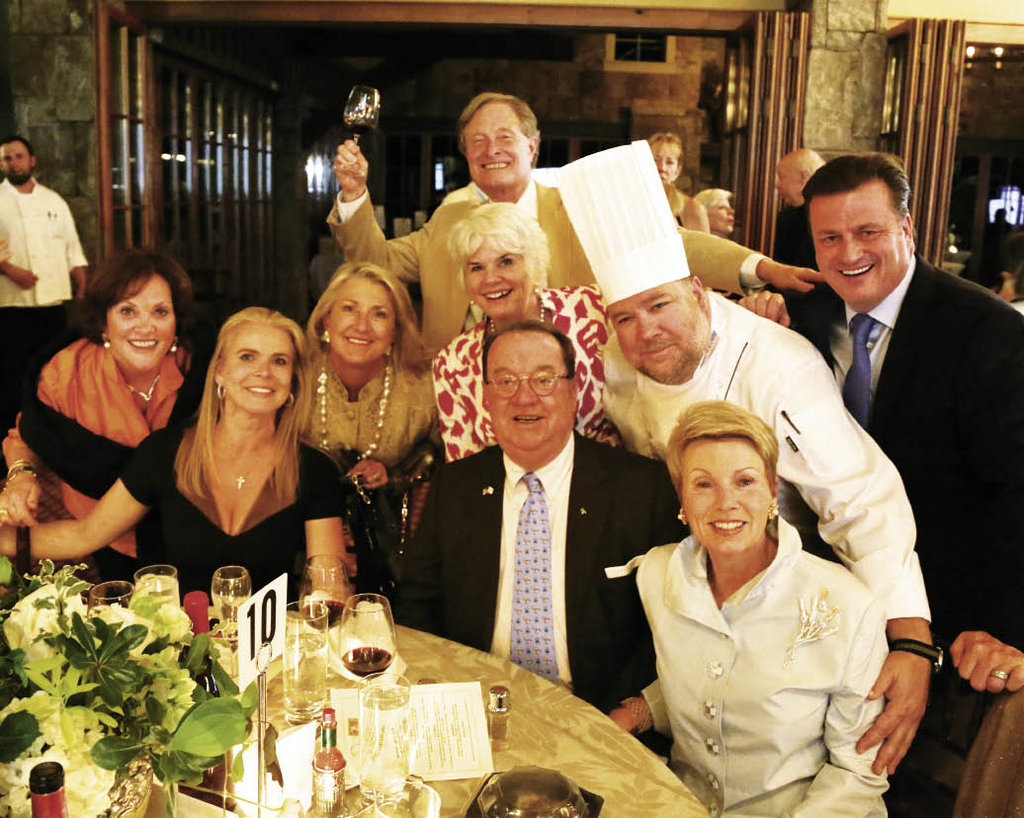 Bascom board members and patrons with Highlands Country Club's Chef Bryant Wither