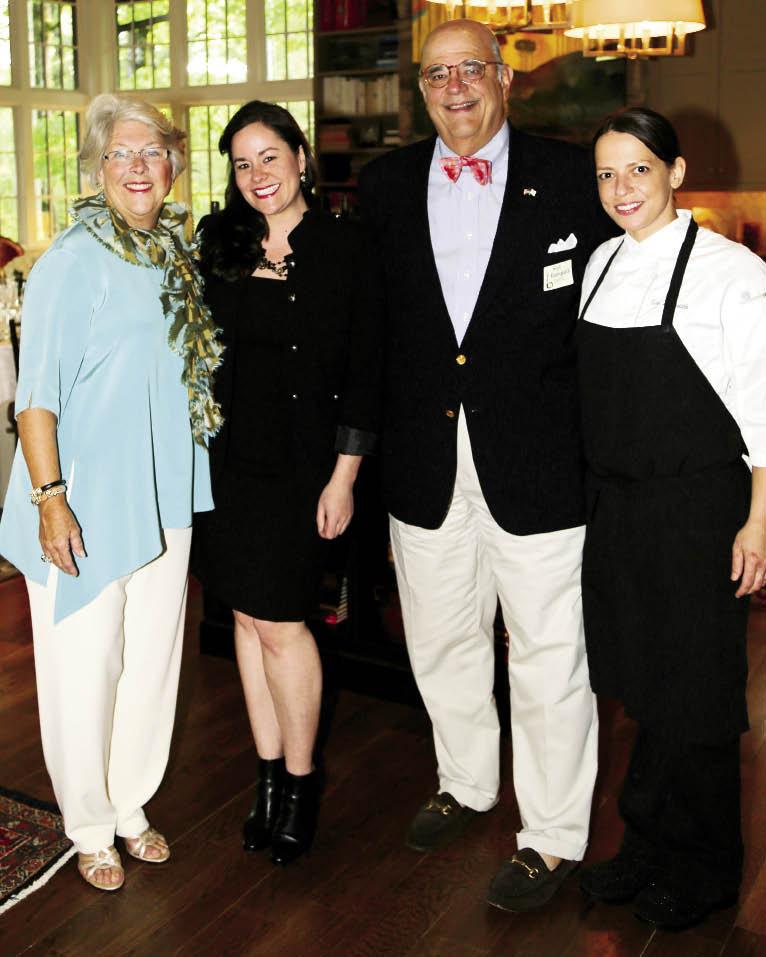 Elizabeth Rodriguez, Lindsay Woodard,  Rod Rodriguez, and Chef Sue Zemanick