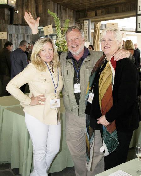 Camille Cox with Tom Thorton and Brenda Mixon