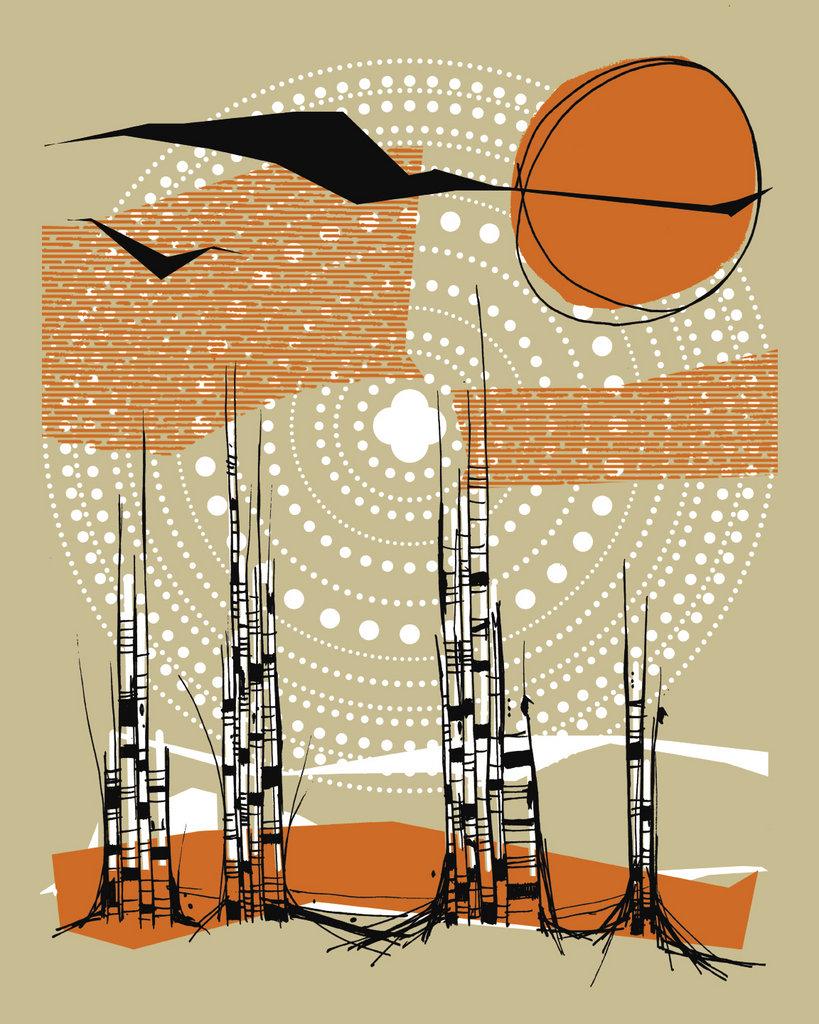 Birch art print. Courtesy of Drew Findley