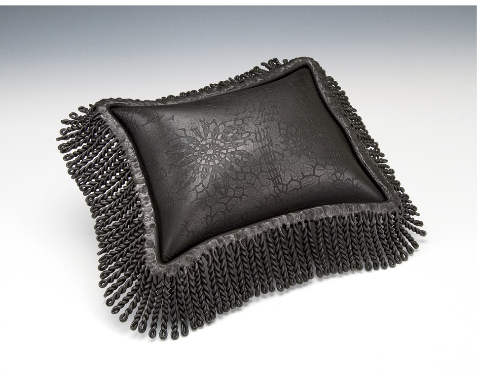 "One of a Kind - To make this pillow, titled Gothic, Brim used a technique she developed and calls ""inflation,"" by which compressed air is injected between two sheets of welded steel."