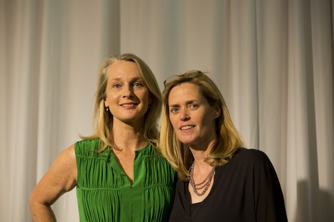 Piper Kerman, author of Orange is the New Black, and Elizabeth Brazas, president of Community Foundation of Western North Carolina
