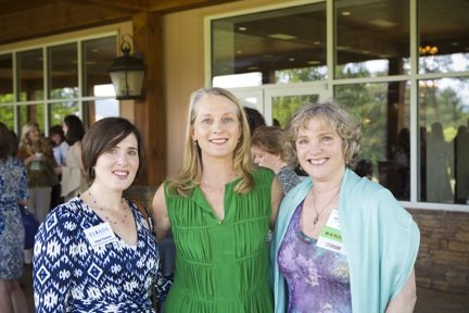 Jewel Tavener of Eliada Homes, Piper Kerman and Jennie Eblen, CFWNC Board Member and Women for Women Member