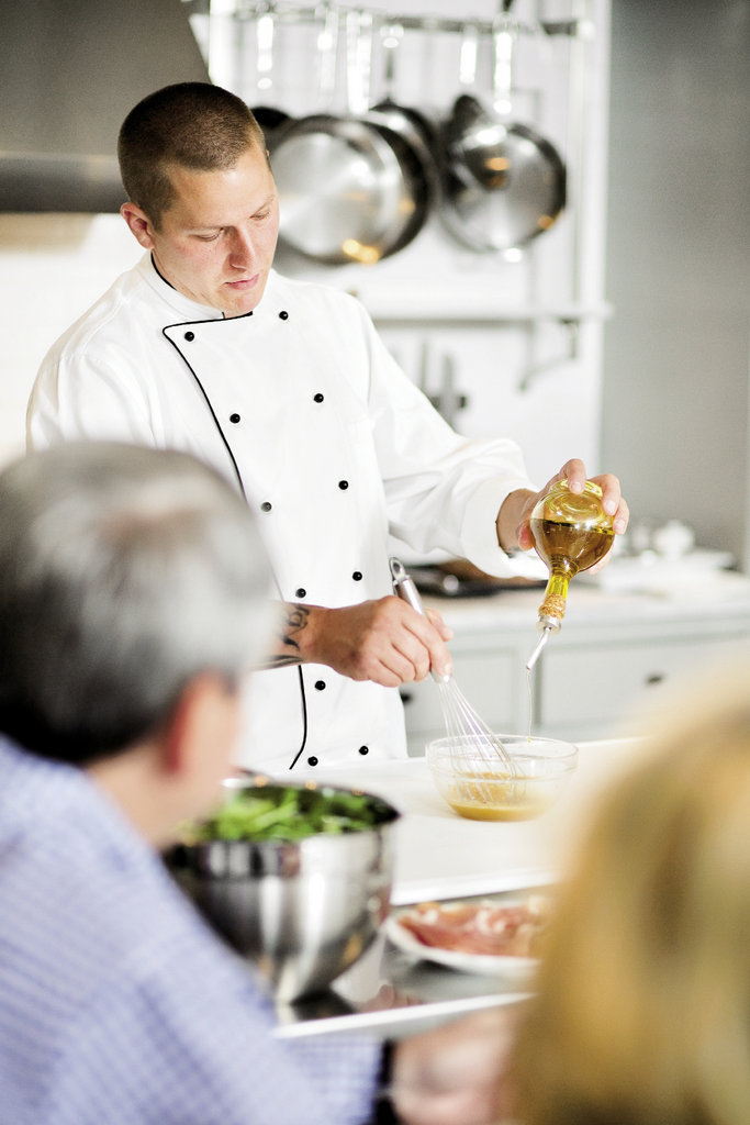 Chef Travis Sparks captivates the students' attention
