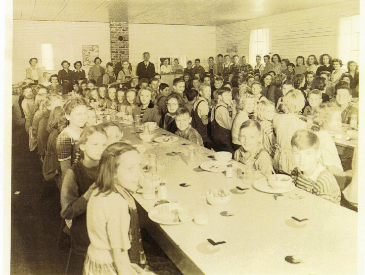 Cowee School cafeteria, early 1950s