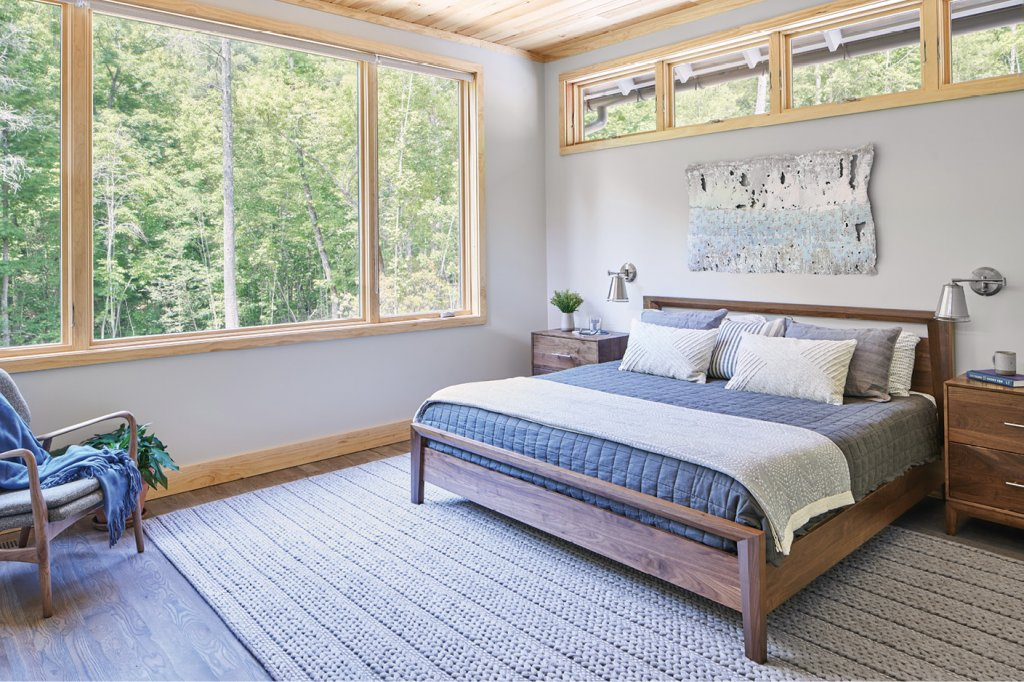 The master suite and bedroom.