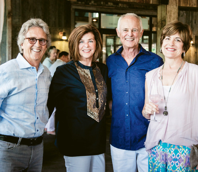 Linda and Dick Dickinson (center) and friends