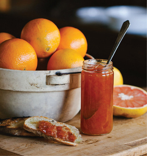 Honey Citrus Marmalade with grapefruit