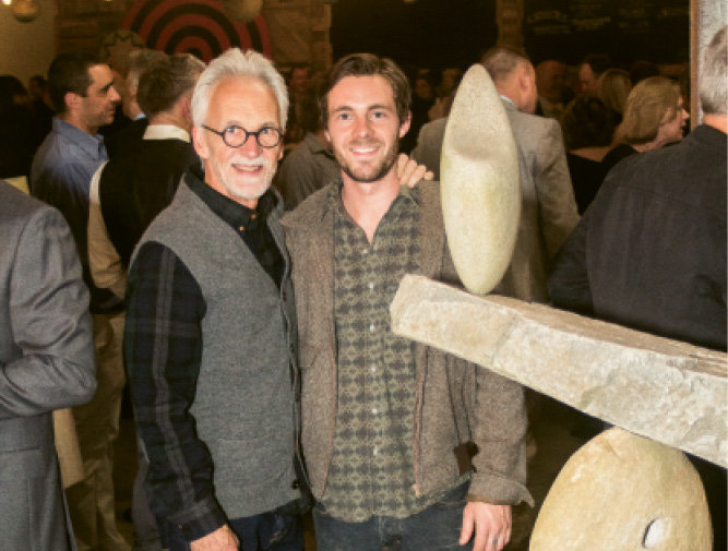 Carl Peverall and son Ethan were among the artists to donate pieces to the live auction.