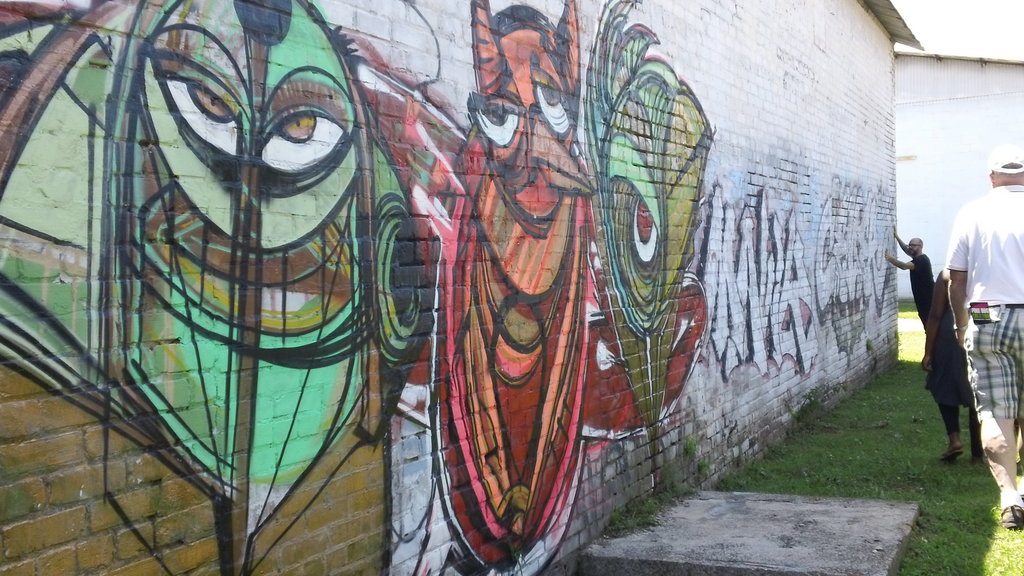 Shaffer uses existing works to explain street art terminology