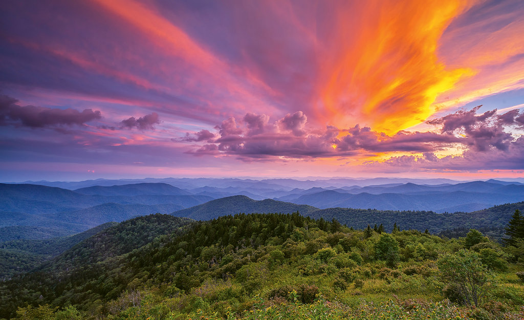 Jason Fenland, Sunset from Cowee Overlook on the Blue Ridge Parkway Professional category