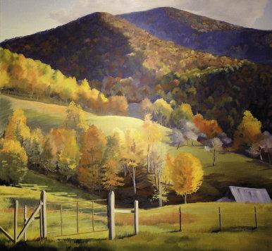 """Ben Bolin Road,  48"""" x 48"""", oil by Joan Bel"""