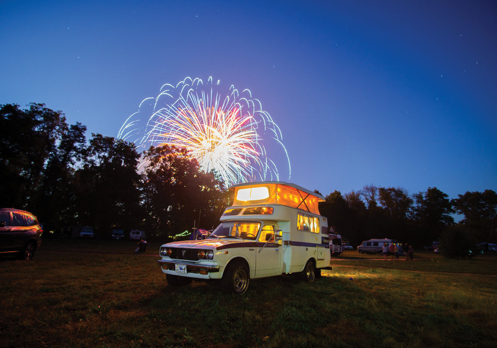 AMATEUR CATEGORY  - Van Life  - Logan Shropshier  - Shropshier used a Sony a6000 hybrid camera to snap this shot of his 1976 Toyota Chinook camper during the Asheville Van  Life Rally.
