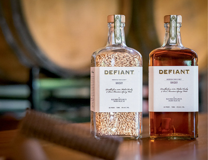 Guests enjoyed samples of Defiant Whiskey, the flagship spirit of Blue Ridge Distilling.