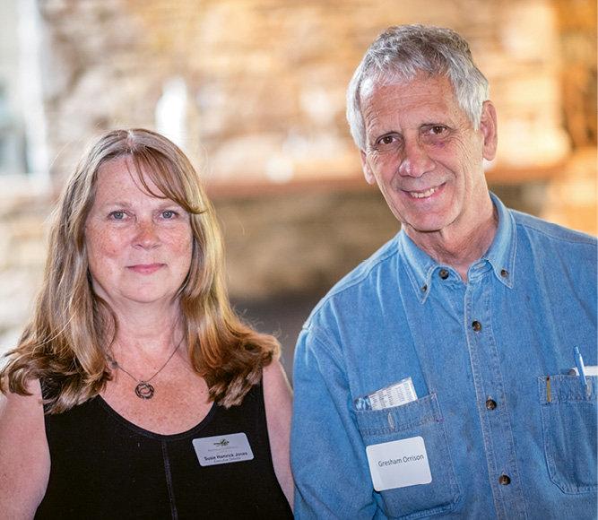 Foothills Conservancy Executive Director Susie Hamrick Jones with Gresham Orrison