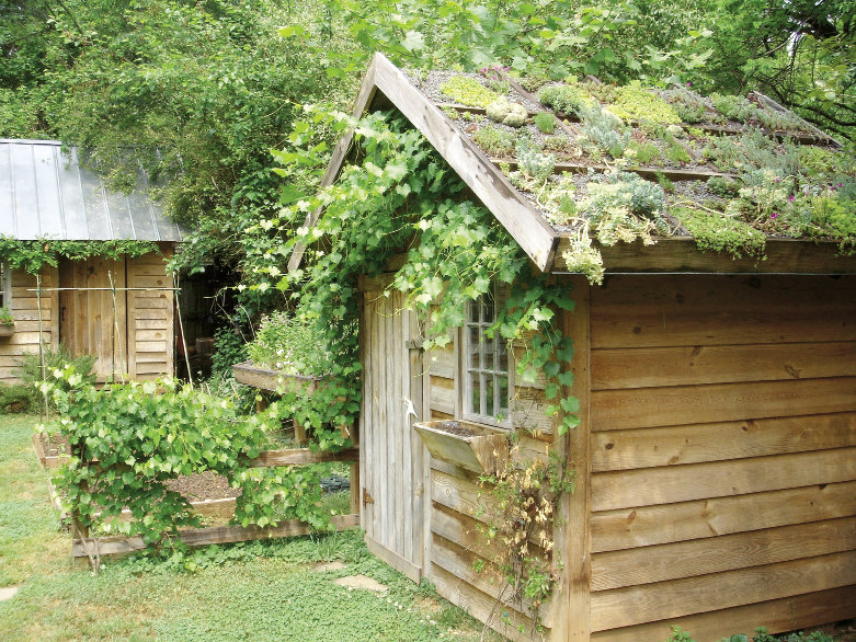 """Building plans for the traditional Garden Shed are available for $39. Total construction starts at $1,800. Visit <a href=""""http://www.greenroofplans.com"""">www.greenroofplans.com</a>."""