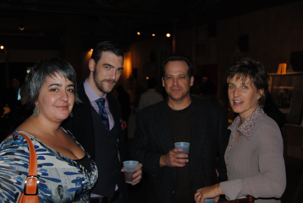 (L to R) Lucia Gray, Chall Gray, David Wells, and Judy Wells