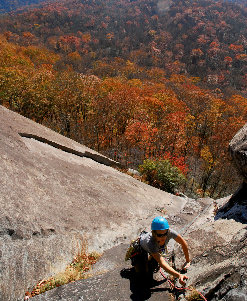 Alesha Reardon atop the South Side of Looking Glass
